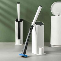 SDARISB Disposable Toiletwand Cleaning Brush Toilet Brush Holder With Cleaning System For Bathroom Toilet And Kitchen Clean 210329