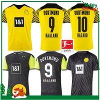 21 22 Jerseys de fútbol Dortmund Haaland Reus Hammels Hummels Brandt 2021 2022 Sancho Football Shirts Training Uniforms Tailandia Aldult Men + Kits Kits