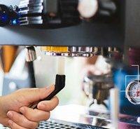 5.5inch Kaffeemaschine Reinigung Nylon Pinsel Mühle Espresso Grime Kunststoffgriff Tastaturen Kitchen Cleaner Tools GWF7378
