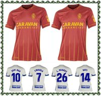 2021 echtes Zaragoza Suarez Linares Fussball Jersey 20 21 Home Javi Ros Soro Kagawa Football Hemd Uniform Camiseta de Futbol Guti