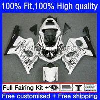 Injection Mold Fairings For SUZUKI GSX-R1000 GSXR1000 K2 00-02 Bodywork 24No.14 GSXR 1000 CC 1000CC White black 00 01 02 GSXR-1000 2000 2001 2002 Motorcycle OEM Bodys