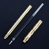 Retro Pirinç Siyah Mürekkep Tükenmez Kalem El Yapımı Jel Ball Point H05A Kalemler