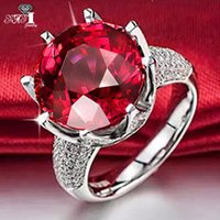 Wedding Rings YaYI Fashion Women's Jewelry Ring Red Purple Green CZ Silver Color Engagement Party