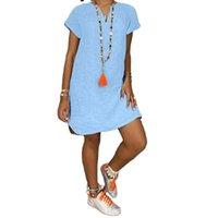 Летние свободные с короткими рукавами V воротку хлопчатобумажные льняные платья беременности родильные платья для PO стрельбы