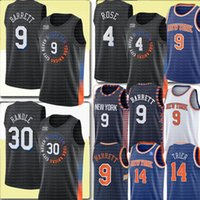 2021 RJ 9 Barrett Júlio 30 Randle Jersey Derrick 4 Rose Jersey Black Basketball Jerseys Allonzo 14 Trier Jerseys Blue Branco S-XXL
