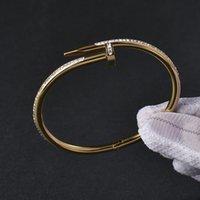 Теннисный винт браслет браслет титановый сталь полный ногте из нержавеющей религии пару четыре цвета могут быть выбором