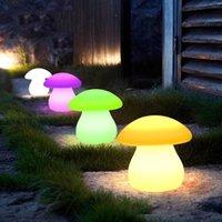 テーブルランプ子供の夜のライトマッシュルームの形ライトリモートの充電カラーベッドサイドが付いている23x23x22cmコードレスバー