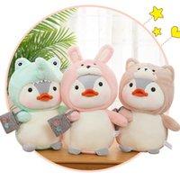 Dolls cartoon plush toy penguin transformed into a rabbit crocodile bear doll ragdoll sleeping pillow cushion gift