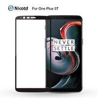OnePlus 3 3T Ekran Koruyucuları için Bir Artı 5 T Temperli Cam 2.5D OnePlus 5 8T Nord N100 için Tam Kapak Koruyucu