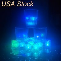 Other Stage Lighting LED Ice Cubes Bar Flash Auto Changing Crystal Cube Water-Actived Light-up 7 Color For Romantic Party Wedding Xmas GiftUAS STOCK CRESTECH888