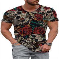 RRN8 Summer t Shirt Men Dihope tshirts man Casual Short Men Tshirts Sleeve Clothing Streetwear Skull Print Graphic Tshirts s Tee