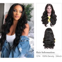 13*4 Lace Front Wig Transparent Body Wave Human Hair Brazilian Pre Plucked Naturalhairline Bleach Knots Big Wavy