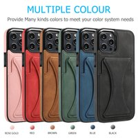 Shockproof Phone Cases for iPhone 13 12 11 Pro Max X XS XR 7 8 Samsung Galaxy S21 S20 Note20 Ultra S10 Plus Multi-view Stand Metal Magnetic Car Holder Protective Cover Case