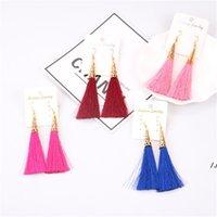 Boho Crystal Dangle Long Tassel Drop Earrings For women Ethnic Geometric Rose flower Sign Statement Earring Fashion Jewelry AHA5658