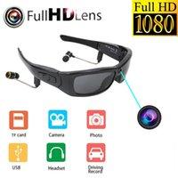 Mini-Sonnenbrille-Kamera mit Bluetooth-Headset Sport-Videorecorder polarisierte Linse-Sonnenglas 1080P-Camcorder für laufende Radkameras