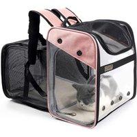 Cat Carriers, Kisten Häuser Designer Pet Rucksack Träger Faltbare Expandable Tasche Für kleine Hunde Katzen, die im Freien trägt