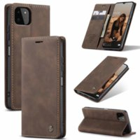 CaseMe Suck Leather Wallet Cases For Iphone 13 Pro Max Mini 2021 Samsung Galaxy A22 5G A32 A42 A52 A72 M51 Magnetic Closure Vintage Holder Stand Flip Cover Pouch