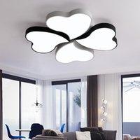 Tavan Işıkları Ultra-ince Morden Yatak Odası Lambası Isınma Romantik LED Yaratıcı Yonca Oturma Odası Restoran Demir