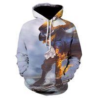 Frühling und Sommer 3D Druck einteiliger Anime Hoodie Männer Spaß Cool Sports Leichte Pullover Hip Hop Herren Hoodies Sweatshirts