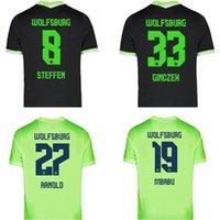 20 21 VFL Wolfsburg 축구 유니폼 2021 홈 Ginczek Guilavogui 셔츠 멀리 Mehmedi Kalus Malli Steffen Weghorst 축구 유니폼