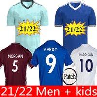 202121 22 Leicester 축구 유니폼 2021 2022 도시 Vardy Maddison Tielemans Ndidi Camiseta de Fútbol 남자 키트 + 키즈 키트 Maillot de Football S
