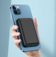 마그네틱 무선 전원 은행 휴대용 Magsafe 충전기 아이폰 12 프로 최대 12mini 5000mAh 외부 배터리 자석 PowerBank