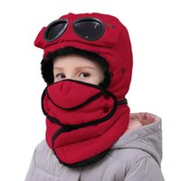 Kids Winter Balaclava Windproof Warm Cycling Skiing Hat CapsTrapper With Face Shield Ushanka Bomber Cap For Boys Girls Caps & Masks