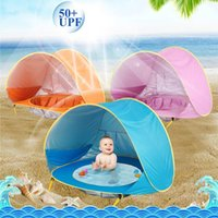 Tents And Shelters 1PCS Children's Water Play Silver-plated Waterproof Polyester Cloth Tent UV Protective Pool Beach Castle Ball Dollhouse