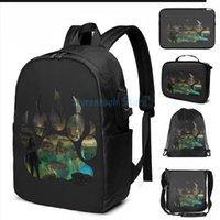 Funny Graphic Print Tomb Raider - الأخضر USB تهمة حقيبة مدرسية الرجال حقيبة مدرسية المرأة حقيبة السفر المحمول