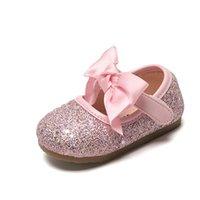 First Walkers Claladoudou 11-15cm zapatos de bebé Bling Bow PU Cuero Niñas Niñas Primavera Princesa Niña Niña Suela suave
