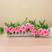 50 adet DHL Ücretsiz 245 cm Düğün Dekorasyon Yapay Sahte İpek Gül Asma Asılı Garland Düğün Ev Dekoratif Çiçekler Çelenkler 614 R2
