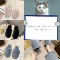 N2QFT Slippers style -Summer Plush slipper Butterfly-knot Woven Flat Shoes Non-slip Luxury designer Hot Bohemian letter Round Head Woman