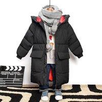 Kinder Benemaker Parkas Winter Overalljacke für Jungen Mädchen Warme Graffiti 10T 12T Kinder Daunen Baumwollmäntel Babykleidung YJ110