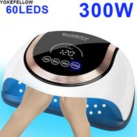 Nail Dryers 300W Powerful UV LED Dryer Lamp 60LEDs Professionl Manicure Machine For Nails Polish With Low Heat Mode Art Salon Tool