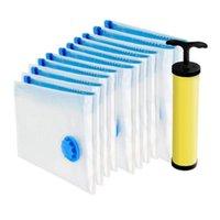 Est Lot 10 Vakum Saklama Çantası Temizleyici Çanta Pompası Ücretsiz Su Geçirmez Vantiya Gezisi