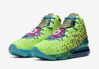 Lebrons XVII 17 AS Tüm Yıldız Promo Mr Swackhammer Yeşil Basketbol Ayakkabı Kutusu En Kaliteli 17 Uzay Reçel Spor Ayakkabı Boyutu 7-12 NLH