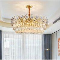 Chandeliers Modern Chandelier Lighting For Dining Room Bedroom Gold Round Luxury Crystal Living Light Fixtures