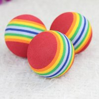 Funny Pet Toy Baby Dog Cat Toys 3.5CM Rainbow Colorful Play Balls For Pets Products MD7 Small Animal Supplies