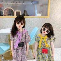 Bolsos de chicas Mini Tote Bolsos Bolsos Monederos para niños Pequeña cadena cuadrada Bolsa de auriculares Niños Niños Hilo Mensajero Bolsa G70cgyt