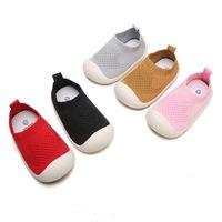 Малыш младенца первые ходунки обувь дышащий младенческий малыш девочек мальчик повседневные сетки обувь мягкие нижние удобные нескользящие туфли 814 y2