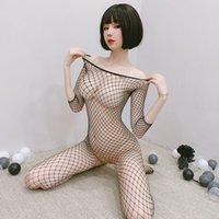 fishnet bodysuits catsuit womens 의상 투명한 오픈 가랑이 섹스 옷 몸체 스타킹 메쉬 레이디 란제리 에로틱 한 속옷 테디 바디 스타킹을 통해