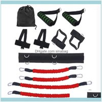 Equipments Supplies Sports & Outdoorsset Elastic Resistance Bands Body Exercise Belt Bounce Trainer Strength Training Equipment Home Gym Fit