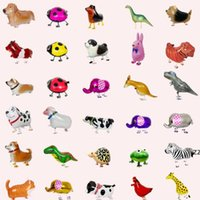 Walking Pet Animal Helium Aluminum Foil Balloon Automatic Sealing Kids Baloon Toys Gift For Christmas Wedding Birthday Party HWE9757