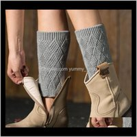 Other Home Garden Drop Delivery 2021 Warmer Womens Autumn Winter Knitted Warm Leg Boots Set Leggings Diamond Shaped Gold And Sier Yoga Sockst
