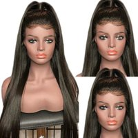 13x4 Lace Front Human Hair Wigs PrePlucked 4x4 Closure Wig 8-26 Inch Brazilian Straight Lace Frontal Wig 180% Remy