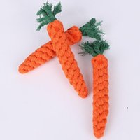 Pet Dog Toys Supplies Bite-Resistant Woven Cotton Rope Ball Grinding Teeth Clean Carrot Knot FWB6987