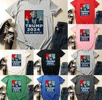 11 Цветов Трамп 2024 Я вернусь Буква Футболка XS-4XL Плюс Размер Дизайнеры Женщины Футболка Летний Унисекс Подростки Спортивные Тройники Тройник Трехгородные Коспюты Пот Топы G503iky