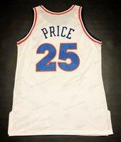 مخصص ريترو مارك السعر # 25 كرة السلة جيرسي الرجال مخيط أبيض أي حجم 2xs-5xl الاسم ورقم أعلى جودة