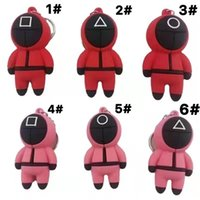 2021 Key Ring Squid Game Hooded Games Masked Man Keychains Creative Gift 6 Styles High Quality