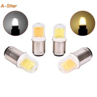 Лампочки AC 5W 110V 220V BA15D Светодиодная лампа лампы COB для швейной машины для люстры